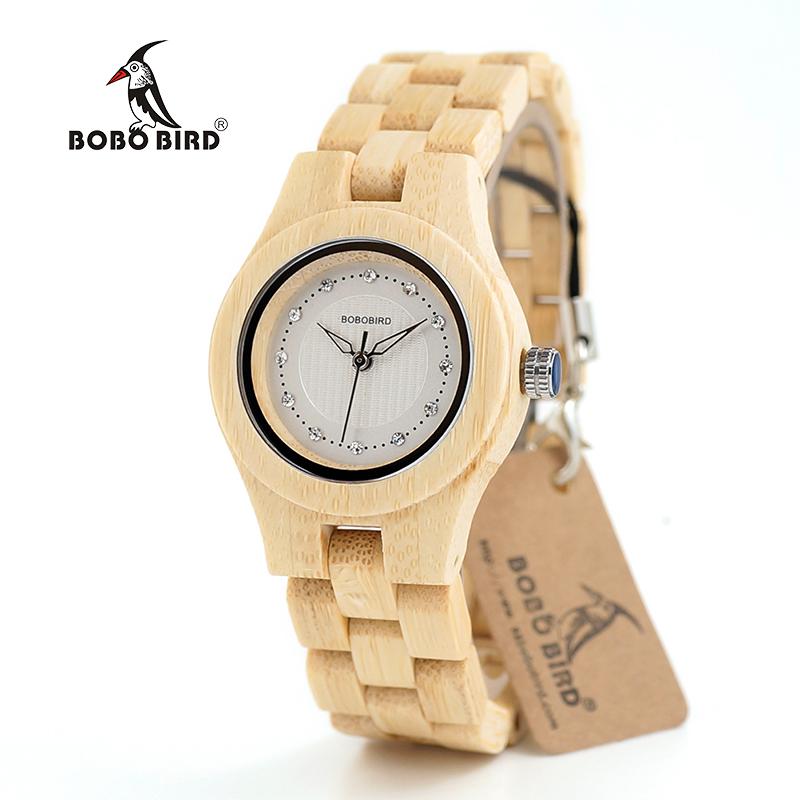 BOBO BIRD Brand Women Bamboo Watches Special Design Watch for Ladies Wood Band Female Quartz Watch relogio feminino DROP SHIPING 13