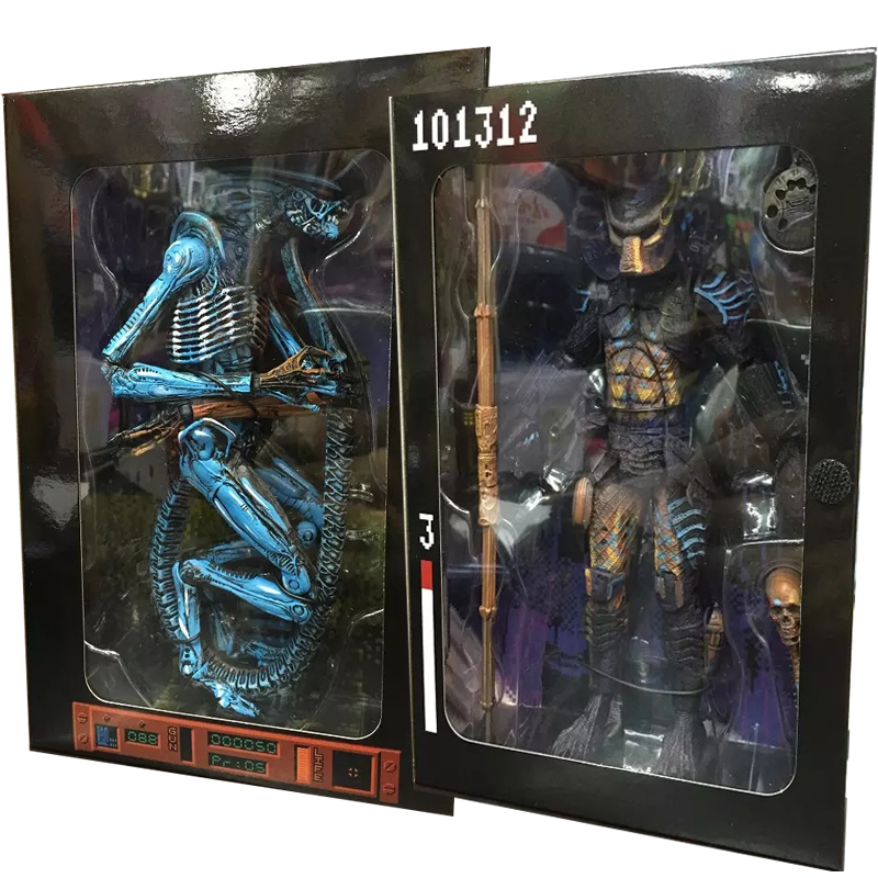 2 style Figma high quality NECA ALIEN 3 toy blue Aliens egg Predator xenomorph mother PVC joker action figure Collectible Model<br>