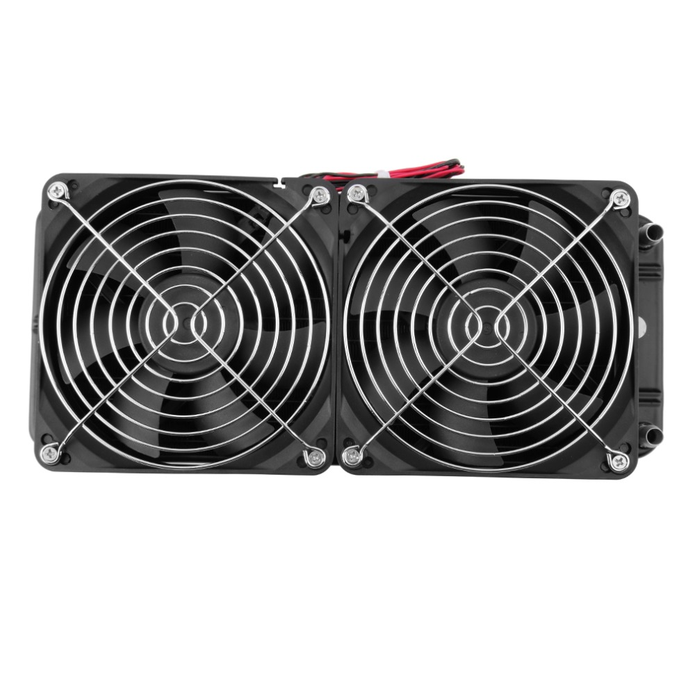 Hot Aluminum 240mm 2 Fans Radiator Computer Desktop Water Cooling Aluminum Thick 60mm Fan for CPU PC Wholesale Drop Shipping<br>