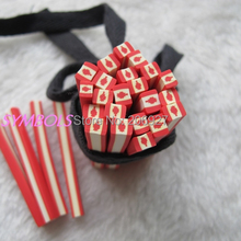 5pcs K-03 5mm Cute Canada Flag Cane Fancy Nail Art Polymer Clay Cane Nail Art Decoration