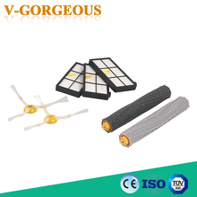 High Quality 1 set Tangle-Free Debris Extractor + 3 Hepa filter + 2 side brush for iRobot Roomba 800 900 Series 870 880 980(China)