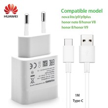 HUAWEI P9 Fast Charger 100% Original quick charger 9V2A Quick Wall Travel Adpater 2A TypeC USB Cable honor 8 note8 V8 V9 nova(China)