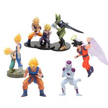 11-21cm anime Dragon Ball Z action Figure Vegeta Trunks Son Goku Gohan Cell Frieza dramatic showcase dragonball Model Toys Doll(China)