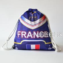 sports outdoor polyester France soccer bag Portable football fan football boots shoes bag Fans souvenirs storage bag gift