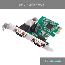 2 Port RS232 RS-232 Serial Port COM to PCI-E PCI Express Card Adapter Converter TX382B chipset