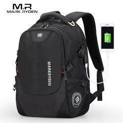 Мужской деловой рюкзак Mark Ryden, модный универсальный рюкзак для ноутбука 15 дюймов, с портом USB для подзарядки, 2019