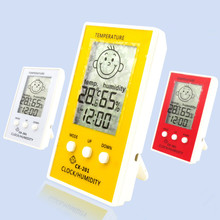 LCD Digital Thermometer Hygrometer Temperature Diagnostic-Tool Humidity Meter Weather Station Tester W/  Baby Smile Crying Face