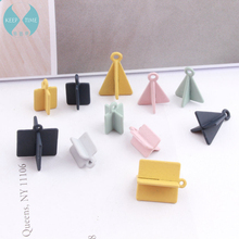 DIY Korean rubber accessories, alloy pendants, bracelets, earrings, fittings, cross triangles, squares(China)