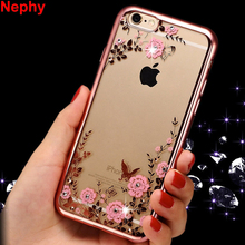 Nephy Luxury Case For iPhone X 8 7 6 5 4 s 4s 5s SE 6s Plus 6Plus 6sPlus 7Plus 8Plus Cover TPU Silicon Ultrathin Glitter Housing(China)