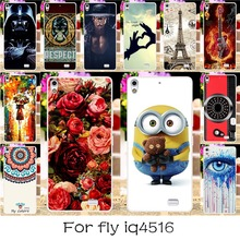 TAOYUNXI 22 DIY Silicone Phone Case Cover For Fly IQ4516 IQ 4516 Gionee Elife S5.1/GN9005 4.8 INCH Back Covers Shell HousingHood