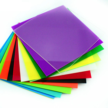 200*200*2.3mm colored acrylic sheet / plexiglass plate /DIY toy accessories technology model parts