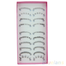 2016 Top Quality Hot10 Pairs Different Style Lower Under Bottom Eye Lashes Extension False Eyelashes 8AU9
