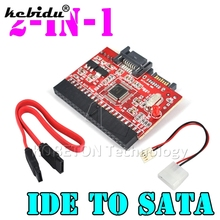 "kebidu 2 in 1 SATA to IDE Converter IDE to SATA Adapter Converter 2.5"" IDE 133 100 To SerIal SATA Converter Adapter 40 Pin"