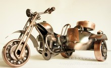 qm818  Iron home handmade antique wrought iron machine model number sidecar motorcycle models M18-1