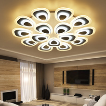 PEACOCK Creative Acrylic Ceiling Light Remote-controlled Adjustable Lamp Warm And Stylish Romantic Home(China)