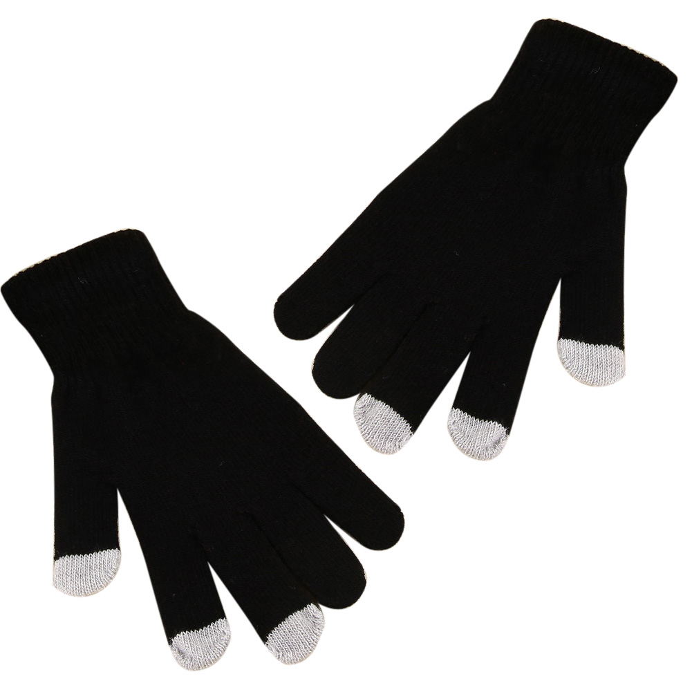 Solid Magic Gloves Girls Boys Unisex Capacitive Mobile Phone Smartphone Texting Touchscreen Gloves Knit Hot Winter Warm Mittens