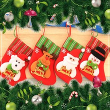 Christmas Santa Socks Mini Sock Candy Gift Bag Festival Party New Year Xmas Tree Hanging Decoration #96 - decoration and furnishing Store store