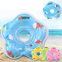 Kid PVC Swim Neck Ring Swimming Neck Float Ring Air Inflatable Tube Ring Safety Infant Neck Float Circle For Bathing