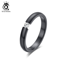 Buy ORSA JEWELS New Fashion 316L Stainless Steel Rings Shining Crystal Men Women Wedding Engagement Rings 4 Colors Available OTR48 for $2.15 in AliExpress store