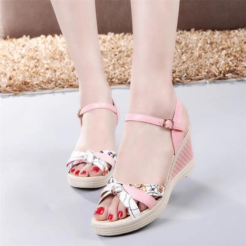 Ladies Women Wedges Shoes Summer Sandals Platform Toe High-Heeled Shoes O0530#304