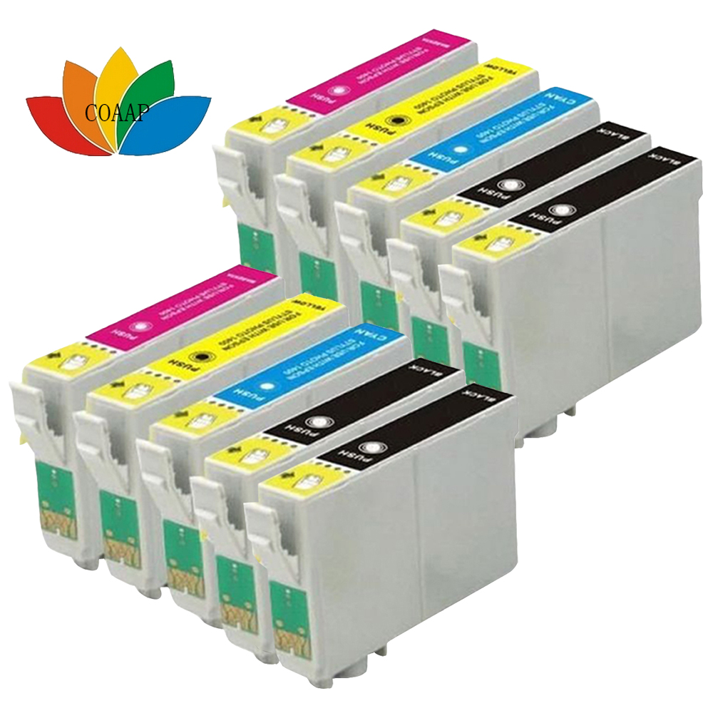 10pcs Printer Ink Cartridge For stylus SX130 SX125 SX425W SX435W SX235W Compatible EPSON T1285 XL<br><br>Aliexpress