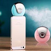 Portable Mini Phone Humidifier Cell Phone Beauty Mist Spray Diffuser Iphone & Android Smartphone Sprayer Skin Deep moisturizing