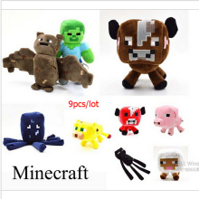 9pcs/lot Minecraft Game Plush Toys High Quality Plush Toys Cartoon Game Dolls  Minecraft Cartoon Game Toys Gift for kids