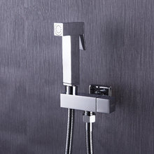 100%Brass Hand held Bidet Shower Faucet Free Perforating Toilet Jet Cleaner Portable Bidet High Pressure Shower Head(China)
