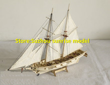 LOVE MODEL Free shipping Assembly Model kits Classical wooden sailing boat model Halcon1840 sailboat + lifeboat wooden model