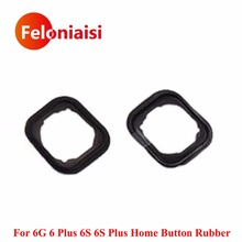 50pcs/lot High Quality For iPhone 6G 6 Plus 6S 6S Plus Home Button Holding Gasket Rubber Spacer With Adhesive Sticker(China)