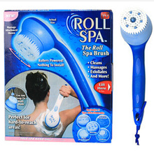 VILEAD New Arrival ROLL SPA Creative Thailand Massage Electric Bath Brush 5 Features Brush Heads Body Cleaning Set TV Products(China)