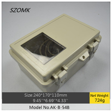 1 piece szomk electronic diy waterproof enclosure 240x170x110mm plastic hinge box hot sales waterproof project box