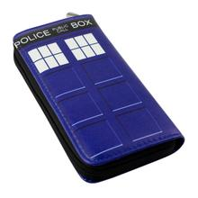 New!!!American Film Doctor Who Cartoon Wallet Telephone Booth Printing Pu Leather Money Clip Multi-Card Long Wallet