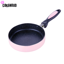 18cm Straight Edge Frying Pan Pan Bottom Non Stick Pan Medical Stone Frying Pan Light Cooking Pot Electromagnetic Cooker(China)