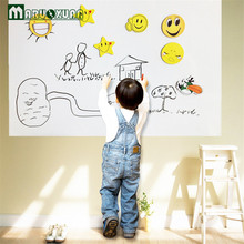Maruoxuan 2016 New 60*200cm Wall Sticker White Board Large Size School Teaching Office Message Board Stickers Wall Stickers(China)
