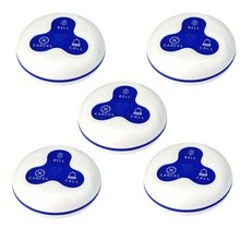 5pcs Waterproof Wireless Restaurant Pager Button Call Transmitter Service Calling Paging System 433MHz F3252L(China)