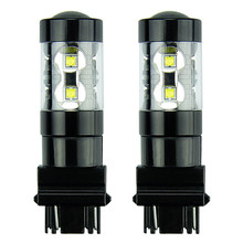 2PCS 800LM Extremely Bright Max 50W High Power 3056 3156 3057 3157 LED Bulbs ,6000K Xenon White Reversing lights brake lights