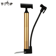 Portable MTB Road Bike Bicycle Floor Pump Hand Air Pump Bike Tire Ball Inflator with Outside Hose Presta Schrader Compatible