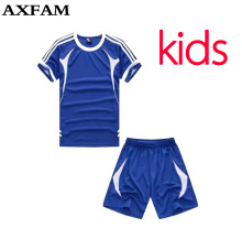 Kids Football Uniforms Blank Short sleeves Children's Soccer Jerseys Sets 2017 survetement football Training Suit