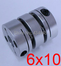 6x10 6mm 10mm Double diaphragm Disc coupling ,electric coupler screw rod Stepper servo motor encoder shaft coupling D26 L35(China)