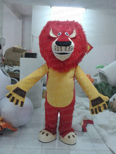 MASCOT COSTUMES red hair king lion mascot costumes madagascar alex