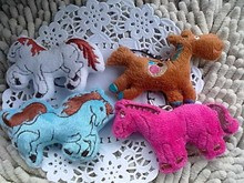 Plush horse toy dolls 7.5cm doll decoration mascot gift small pendant 1lot/50pcs wholesale