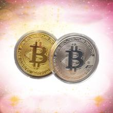Buy 1PC Gold-plated Bitcoin Coin Gold Silver Rose Gold Tricolor BTC Coin Art Collection Coin Party Gift Commemorative Coin for $1.19 in AliExpress store