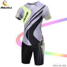 Malciklo Short sleeve Cycling Jumpsuit Men Summer 100% Elastic Fabric Cycle Coverall Road Bike Bicycle Clothing