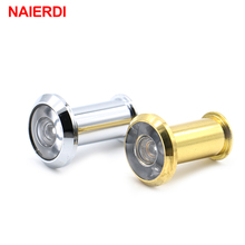NAIERDI Deluxe 200Degree Wide Angle Peephole Door Viewer Door Spyphole Viewer Chrome-plated Gold-plated Copper-plated Hardware