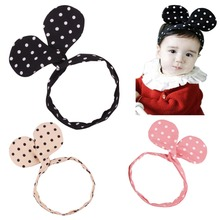 minnie ears dot kids girl kids knot headband hair head bands decorations accessories ornaments headdress hairband tiara headwear(China)