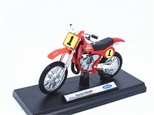 1:18 Welly Honda CR250R NO.1 Motorcycle Motocross Bike Model New in Box Red