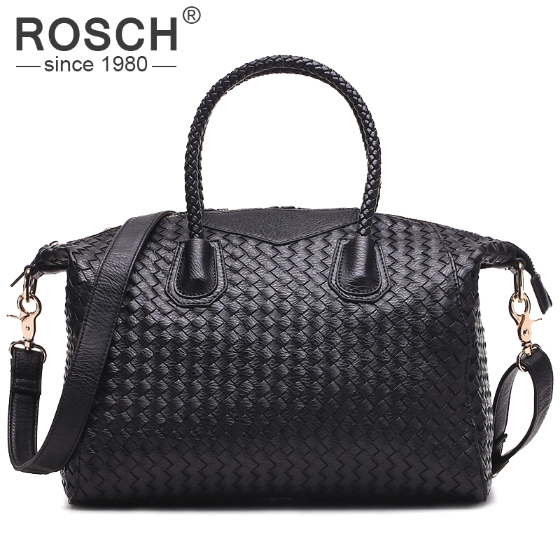 2017 Famous Brands Handmade Women Woven Shoulder Bags High Quality Designer Weave Black Leather Handbags Knitting Trapeze Totes<br>
