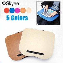 Portable Desk Bed Cushion Knee Lap Handy Computer Reading Writing Table Tray Cup Holder Laptop Stand Pillow for Office(China)