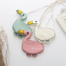 Korea Cute Lovely Fabric Duck Necklace Pendent Bag Chain Collar Fashion Jewelry Children Girl Accessories-TMMJCGNLB011F(China)
